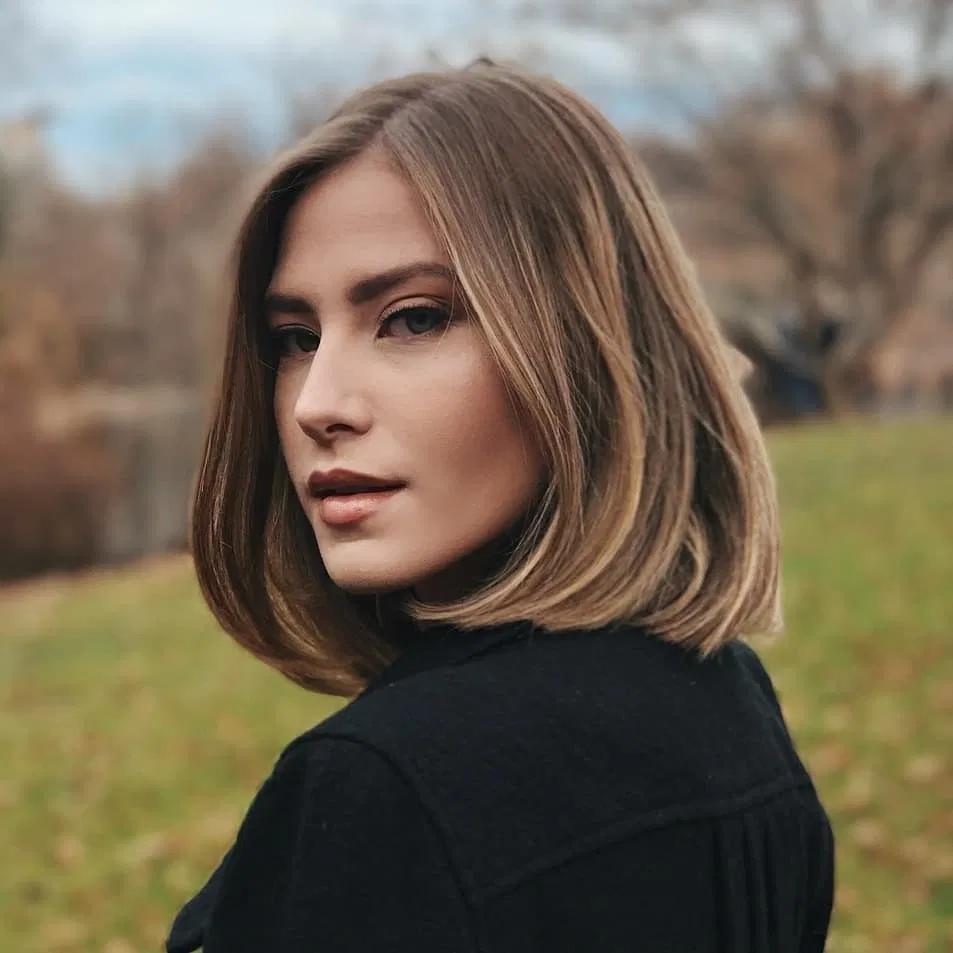 40 besten Frisuren mittlerer Länge 2019 mit Schulterlänge   – Frisuren Damen