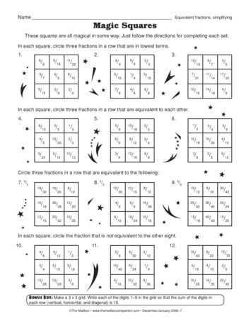 Magic Squares Lesson Plans  The Mailbox  Worksheets  Math  Magic Squares Lesson Plans  The Mailbox  Worksheets  Math Worksheets  Worksheets Fractions