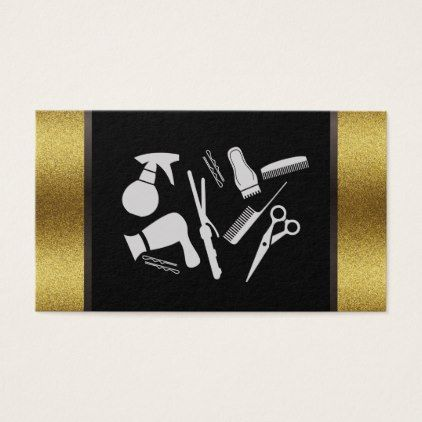 Hair stylist tools gold lux business card colourmoves