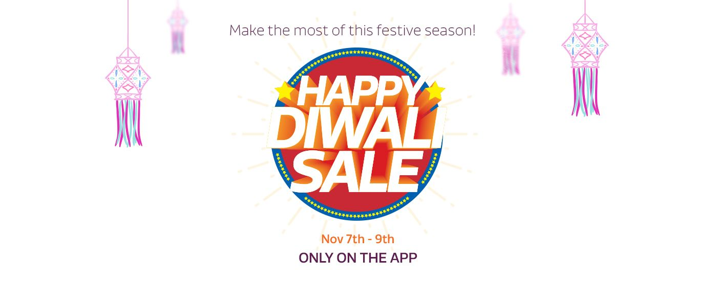 Flipkart Happy Diwali Sale Offers 7th to 9th Nov. Only on