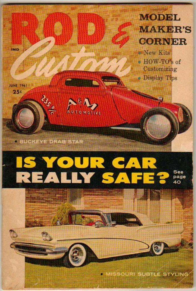 Rod & Custom June 1961 Old Hot Vintage Car Magazine 1957 Ford ...