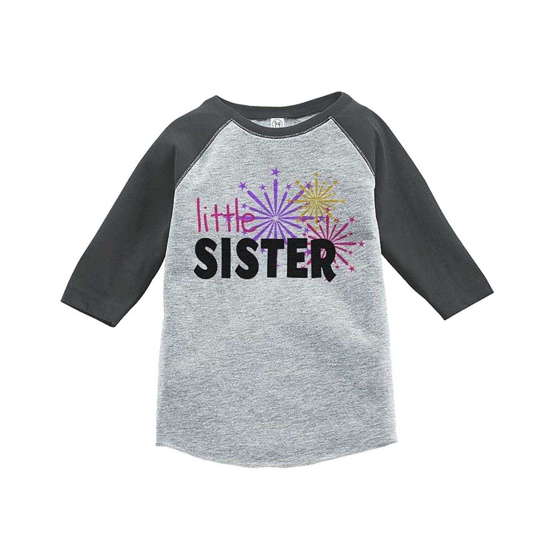 Custom Party Shop Kids Little Sister Happy New Year Raglan Shirt ...