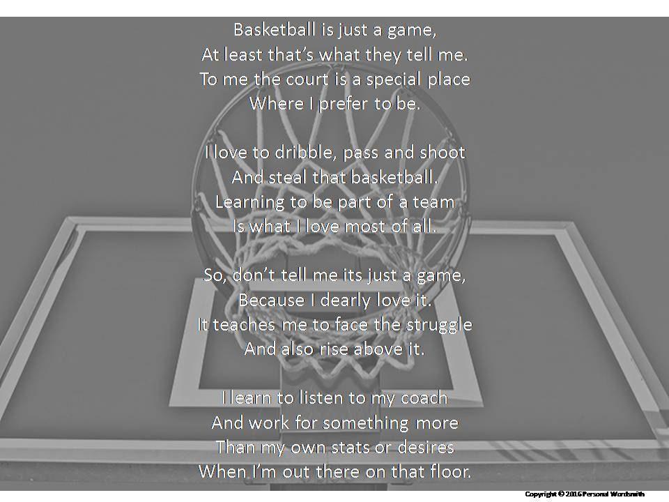 133f80e8f236 Basketball Poem Photo Print