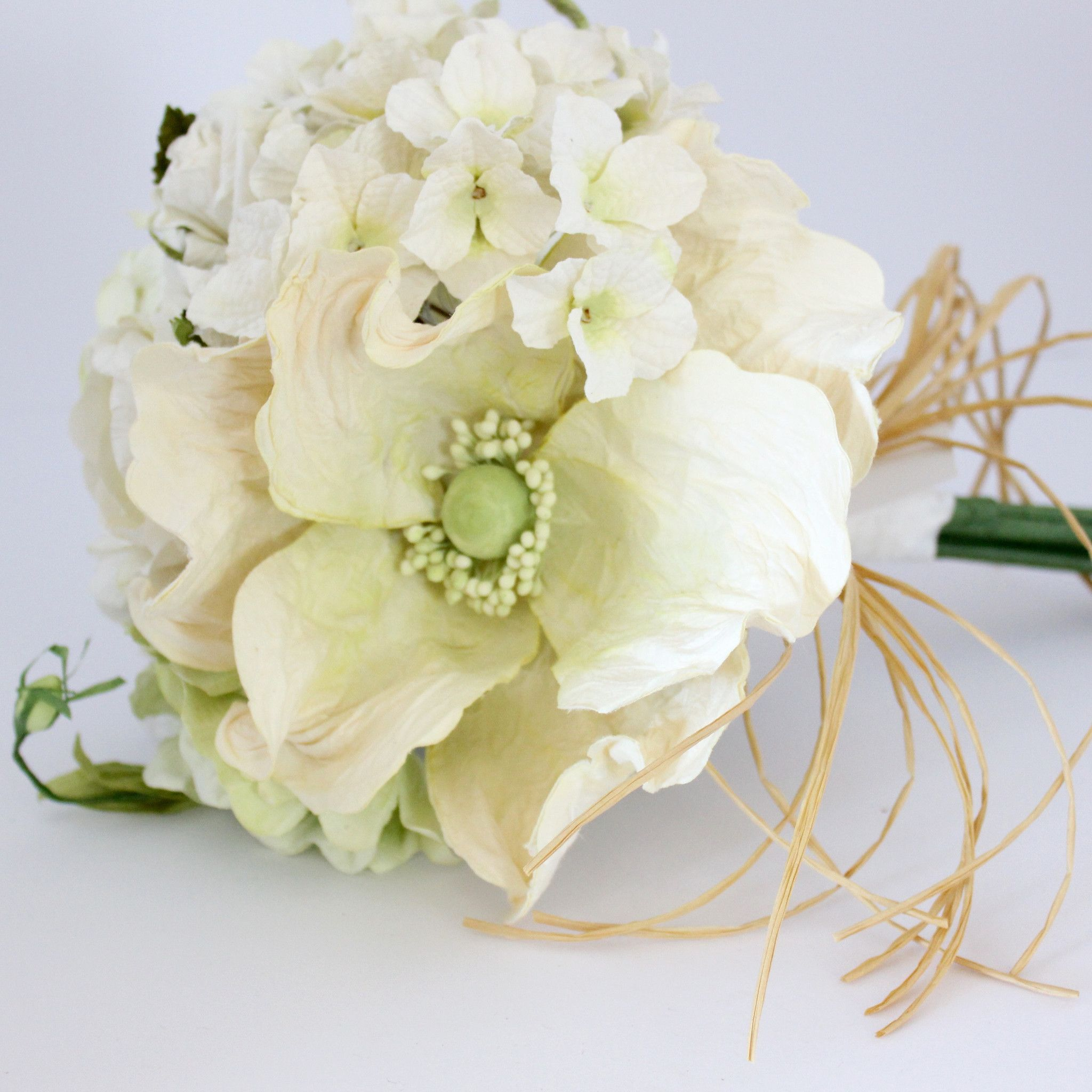 Mixed paper flower bouquet classic white and greens paper flowers mixed paper flower bouquet classic white and greens paper flowers australia mightylinksfo