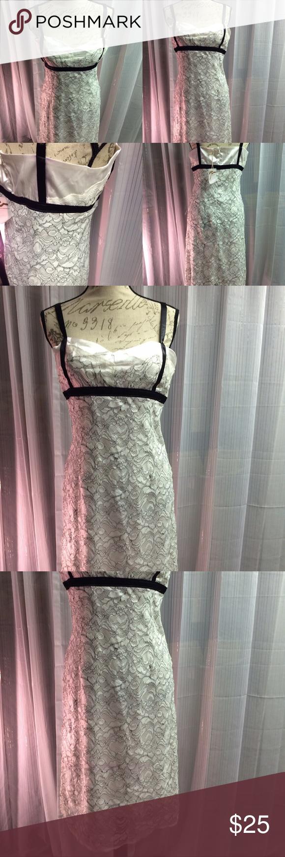 Lace detail cocktail dress Beautiful dress. Adjustable straps. Never worn. ya Dresses Midi