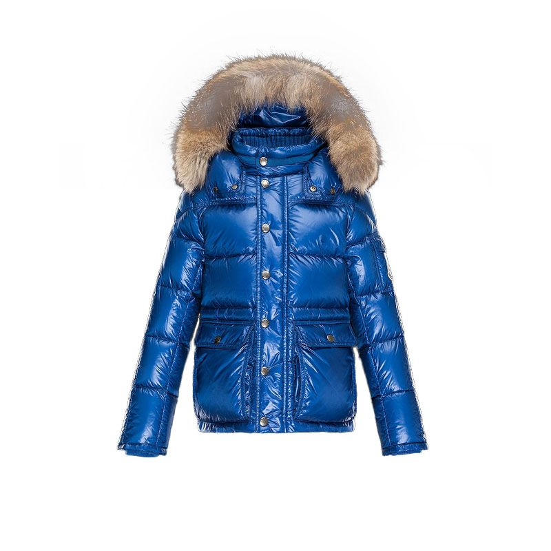 Kids Moncler Bright Blue Hubert Down Jacket