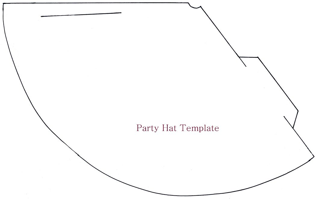 princess cone hat template - party hat template new year s eve party decoration ideas