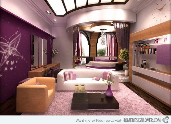 Home Design Lover 15 Ravishing Purple Bedroom Designs   Home Design Lover