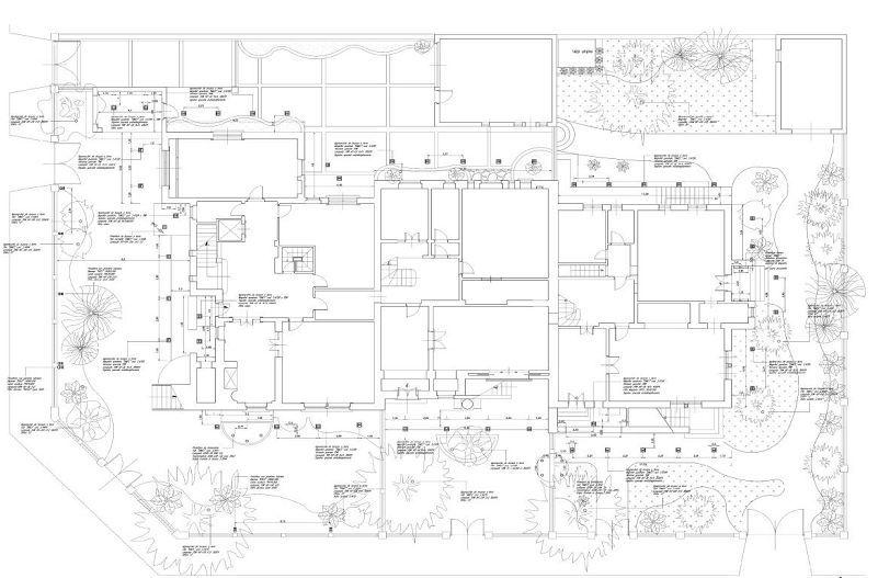 Progettoilluminotecnico per i Villini delle Fate, Roma. Planimetria PianoTerra…
