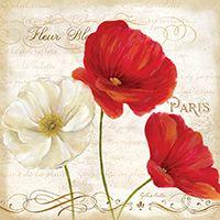 RB6792CC <br> Paris Poppies I  <br> 18x18