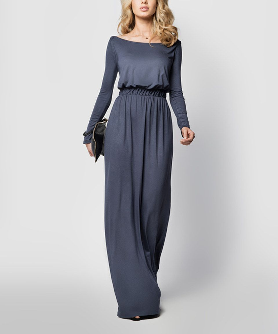 Look what i found on zulily graphite boatneck maxi dress dress by