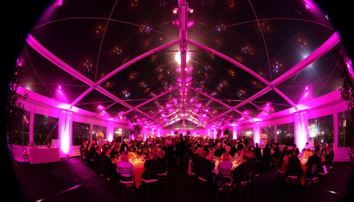 Tent Lighting by The AV Company (University of Virginia Event - Charlottesville VA)