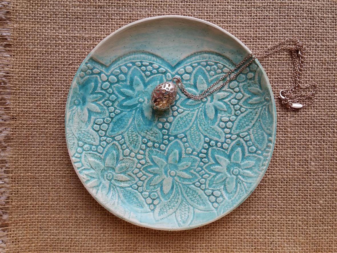 gr ne keramik schale schmuck schale juwelen aufbewahrung schmuck teller romantisches. Black Bedroom Furniture Sets. Home Design Ideas