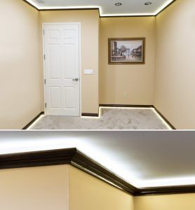 How To Install Led Cove Lighting Super Bright Leds Cove Lighting Led Lighting Diy Crown Molding Lights