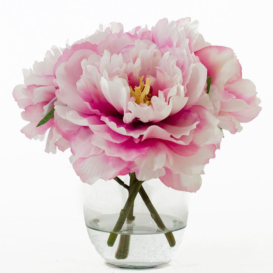 Flash sale 47usd now 37usd silk peonies arrangement with fuchsia flash sale 47usd now 37usd silk peonies arrangement with fuchsia silk flowers artificial faux florals in round glass vase for home decor reviewsmspy