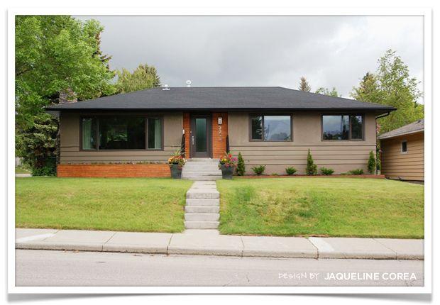 Jacqueline corea calgary bungalow exterior design after for Redesign your home exterior