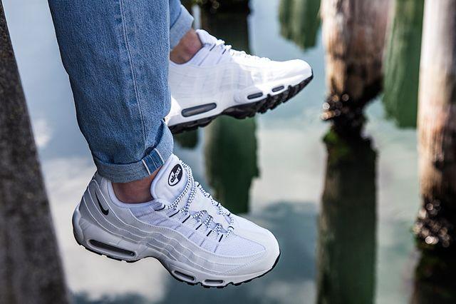 huge sale wholesale online newest nike-air-max-95-pure-white-black-5 | Sneaker Freaker in 2019 ...