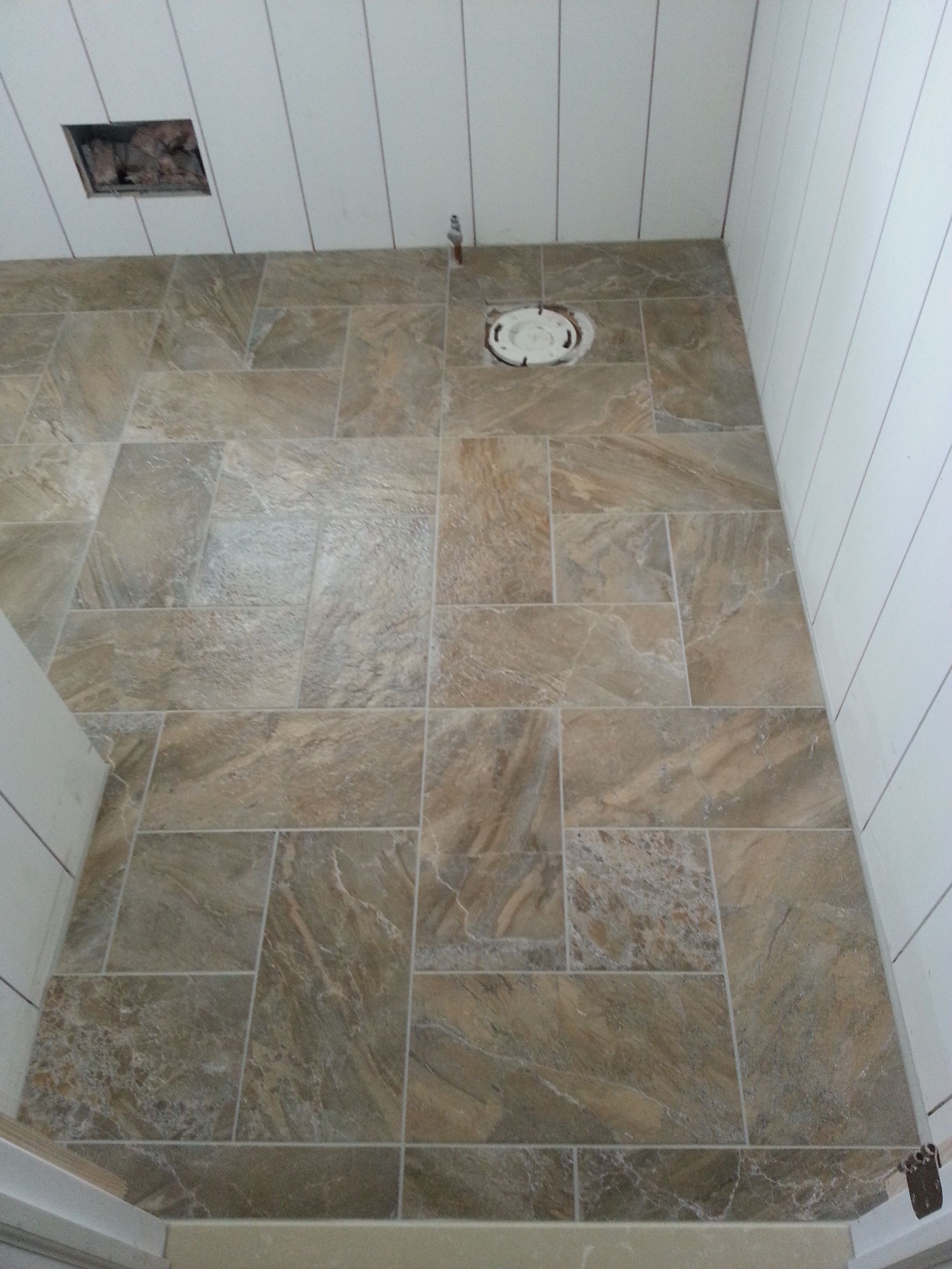 Windmill Tile Pattern For Powder Half Bath Home