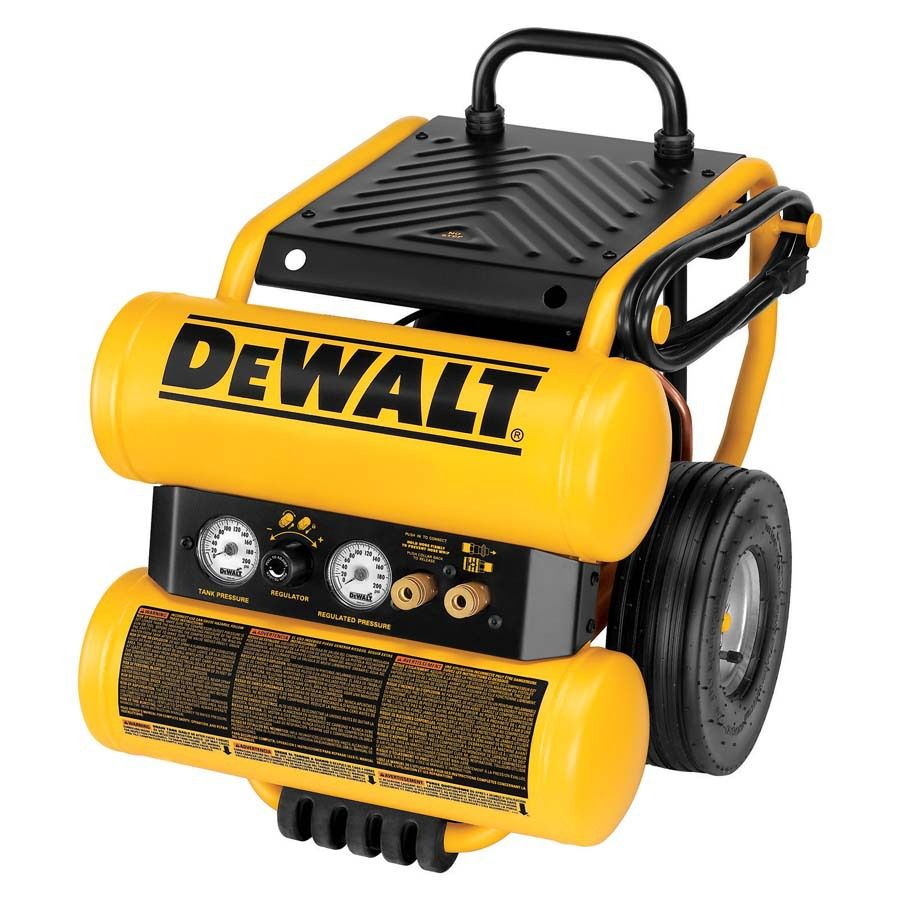 Dewalt 4 Gallon Single Stage Portable Electric Twin Stack Air Compressor Lowes Com Used Woodworking Tools Air Tools Electric Air Compressor