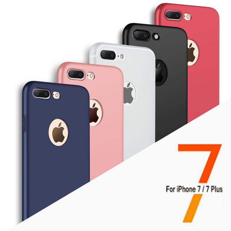 럭셔리 패션 부드러운 실리콘 TPU 다시 아이폰 7 커버 케이스 커버 아이폰 7 플러스 6 6 초 전화 케이스 로고 창