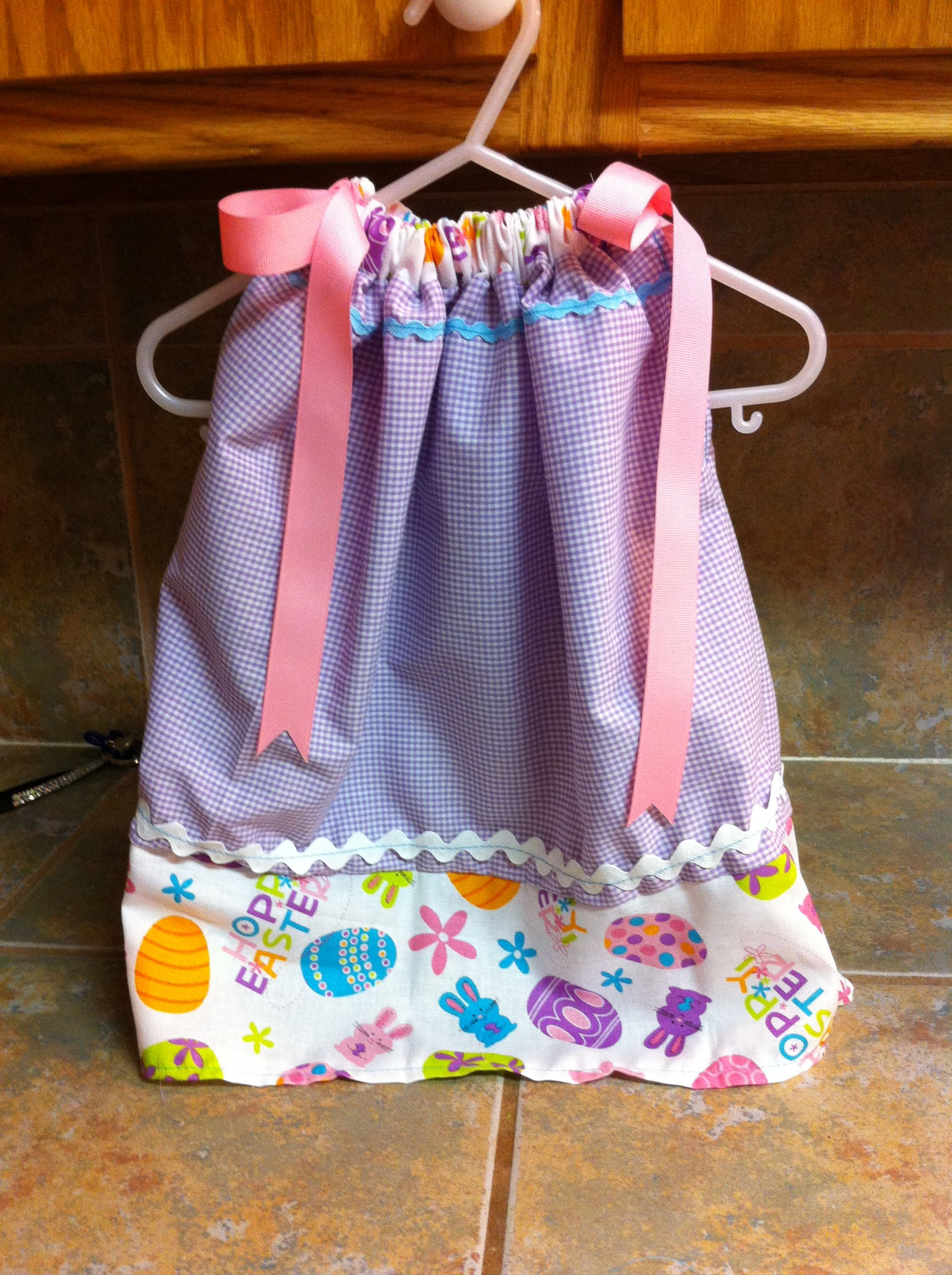 Girls Easter Pillowcase Dress Size 12-18 Months Sewing Projects