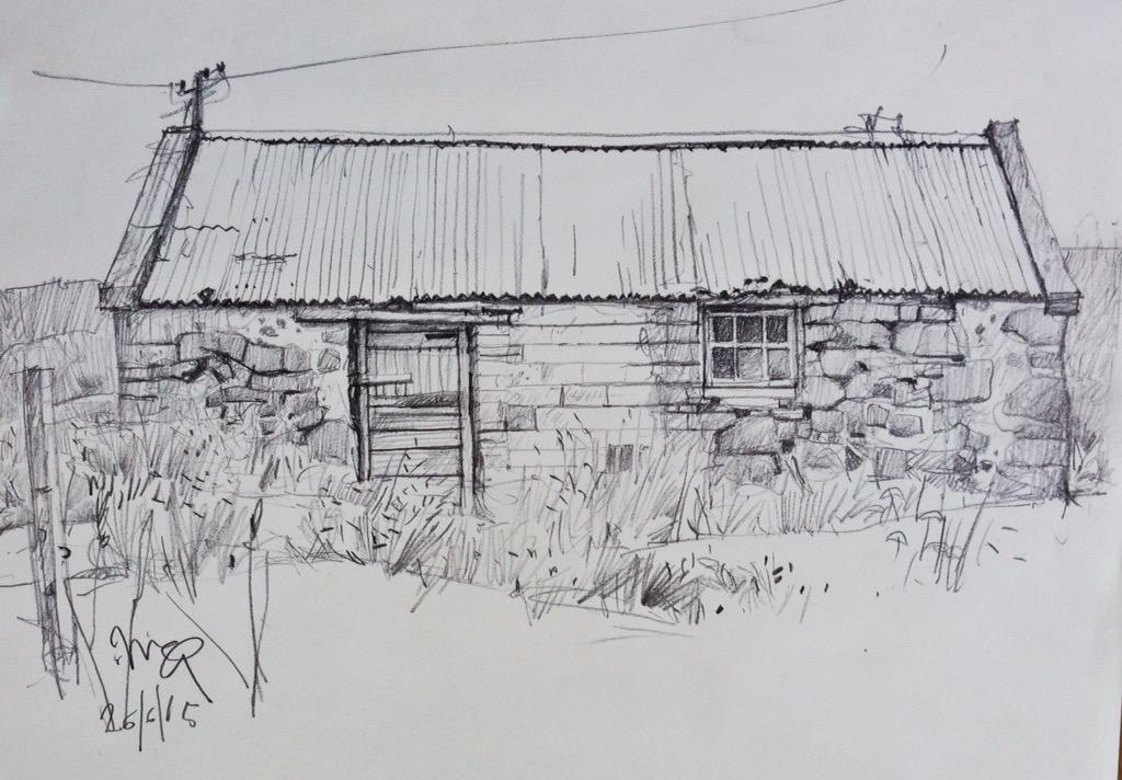 Derelict barn on the road to Portnalong.