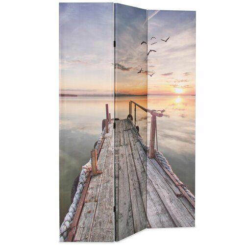 Raumteiler Tyndall Küstenhaus Größe: 180 cm H x 120 cm B