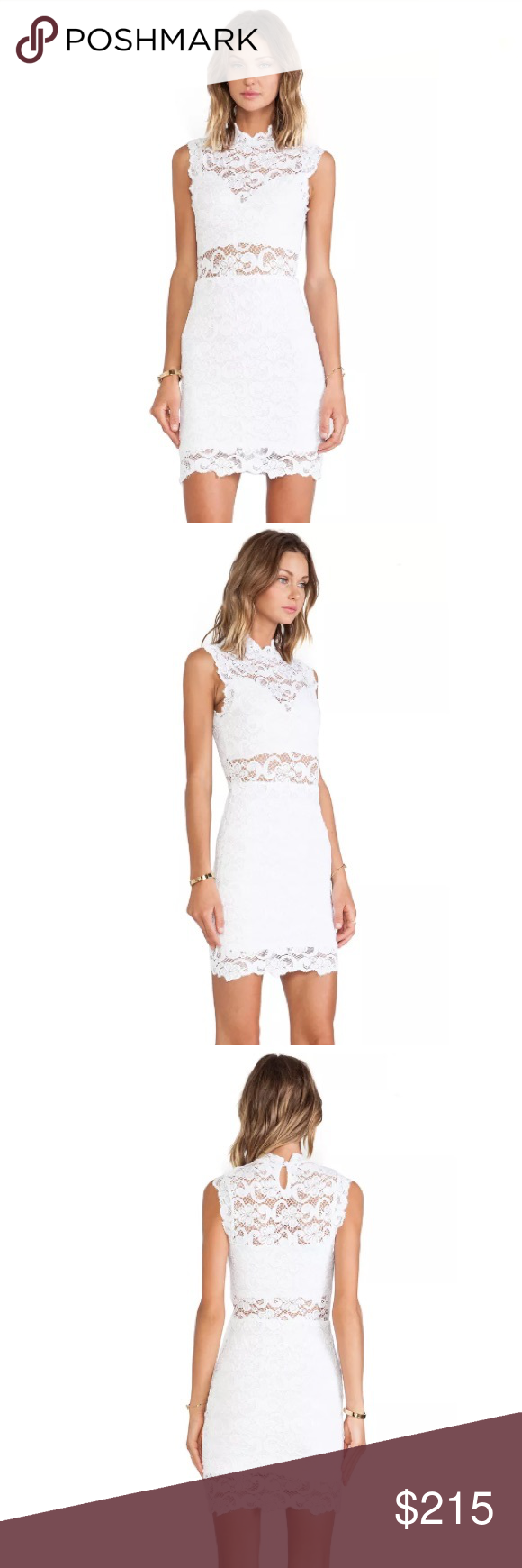 Nightcap Dixie White Lace Cutout Dress Cotton blend 🔹Fully lined 🔹Lace fabric 🔹Back keyhole with button closure🔹 Original price - $297 🔹New with tags 🔹Size 3 Nightcap Dresses Mini