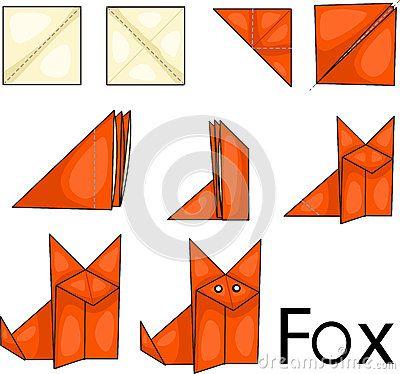 renard d origami origami pinterest origami origami facile and origami renard. Black Bedroom Furniture Sets. Home Design Ideas