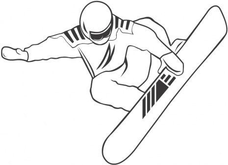 Snow Boarding Sports Coloring Pages Snowboard Snowboarding