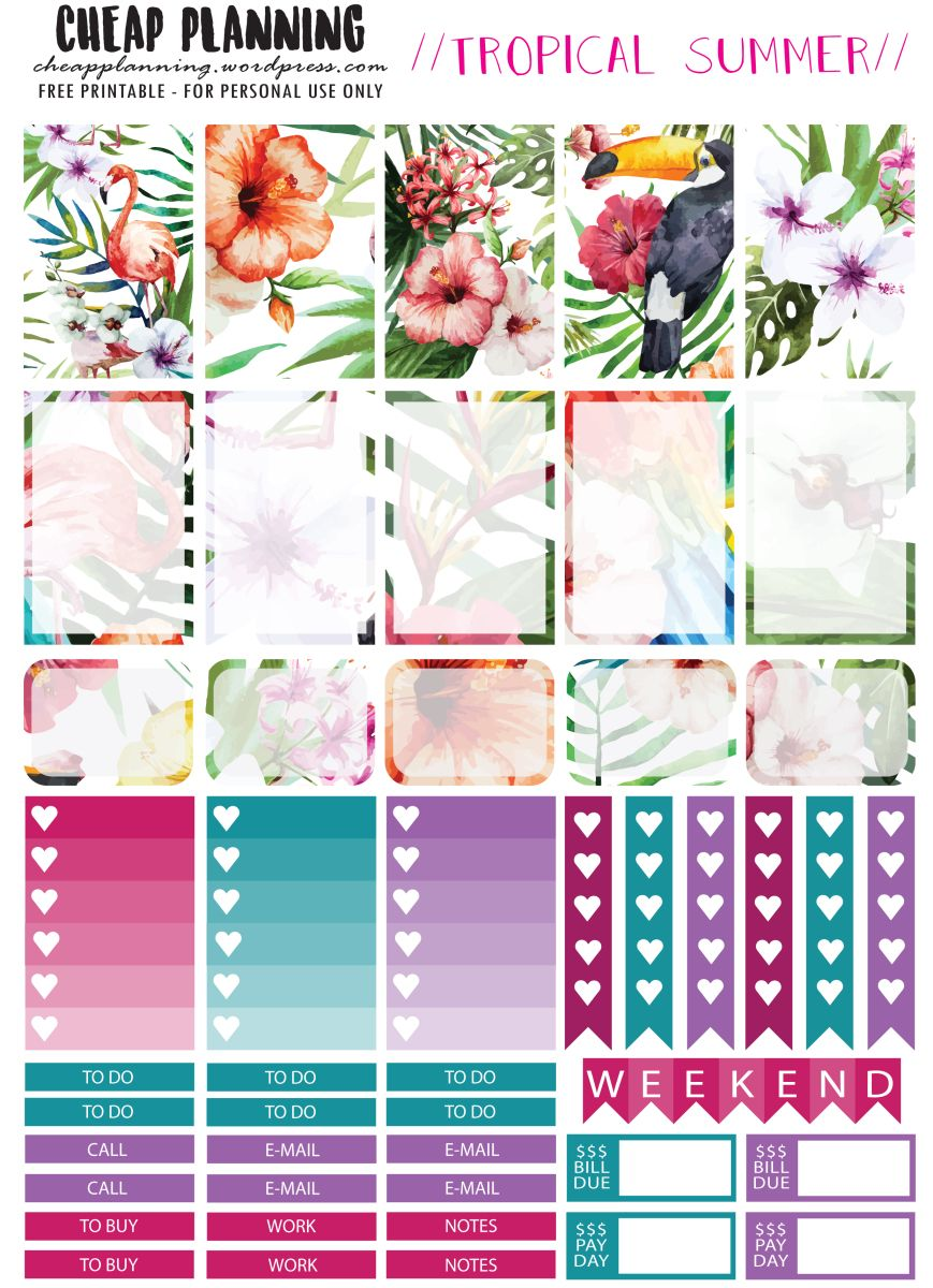 New Planner Stickers & Facebook Page! | Planners & Bullet ...