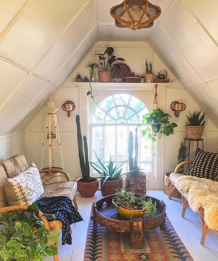 Cozy Attic Hangout Check Out Desigedecors Com To Get More Inspiration Interiord Attic In 2020 Attic Bedroom Decor Chic Living Room Bohemian Living Room