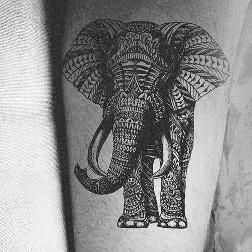 21 Elephant Tattoos With Symbolic Meanings Elephant Tattoos