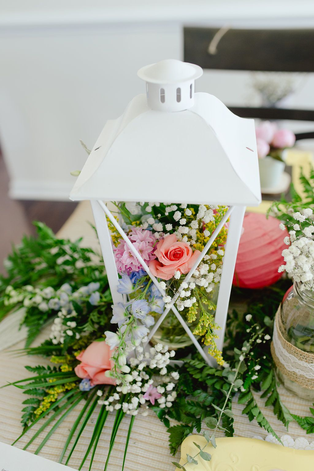 Garden party inspiration  Garden Party Bridal Shower Ideas Centerpiece  Whimsical Garden