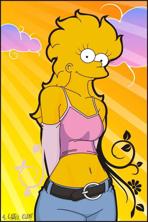 Drawing lisa simpson naked