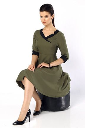 haki yetim kol cift renk elbise tozlu com clothes fashion dresses for work