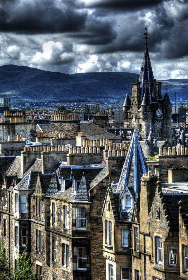 Rooftops, Edinburgh, Scotland photo via marcos