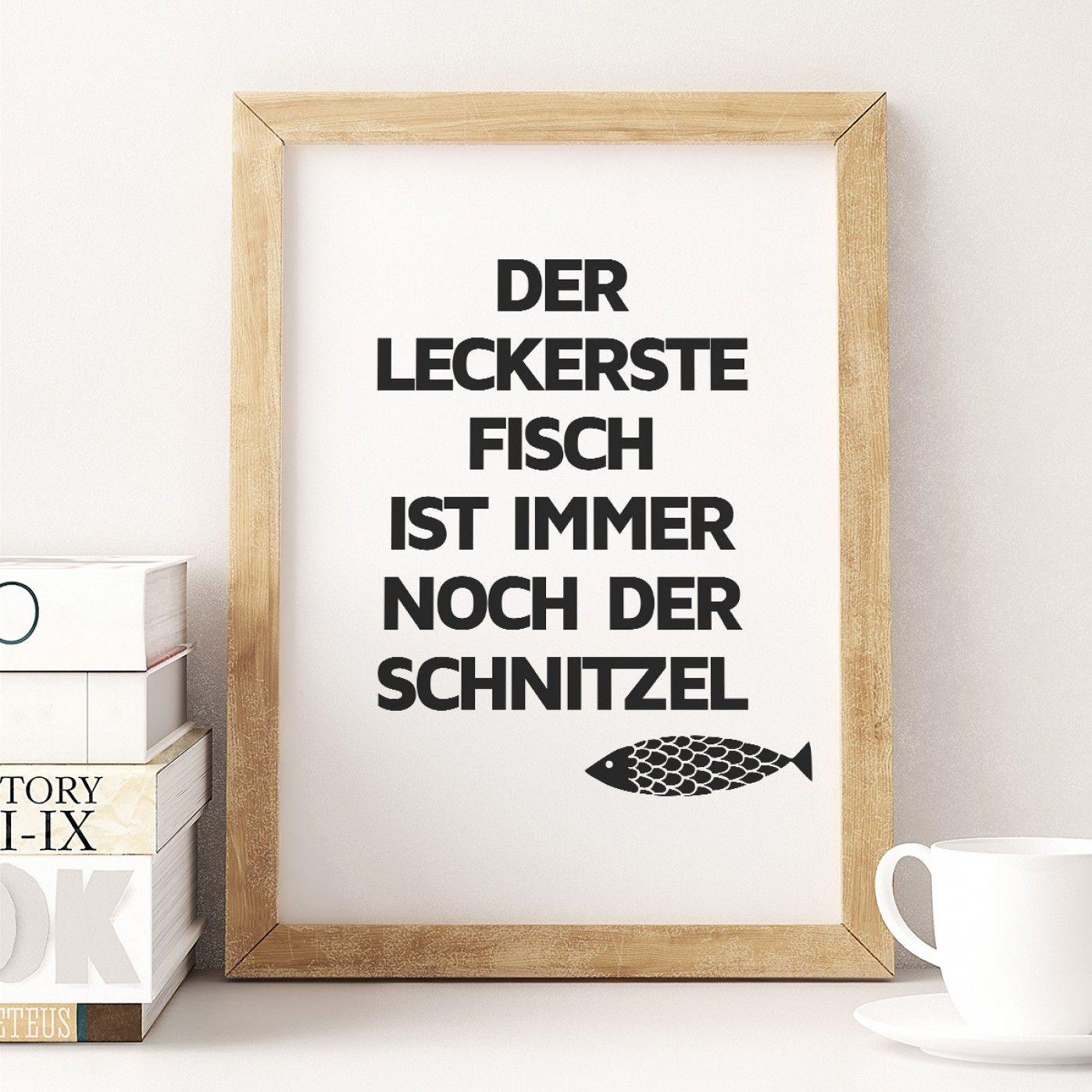 Schnitzel Fisch Poster Kuche Kitchen Decor Diy Kitchen Decor