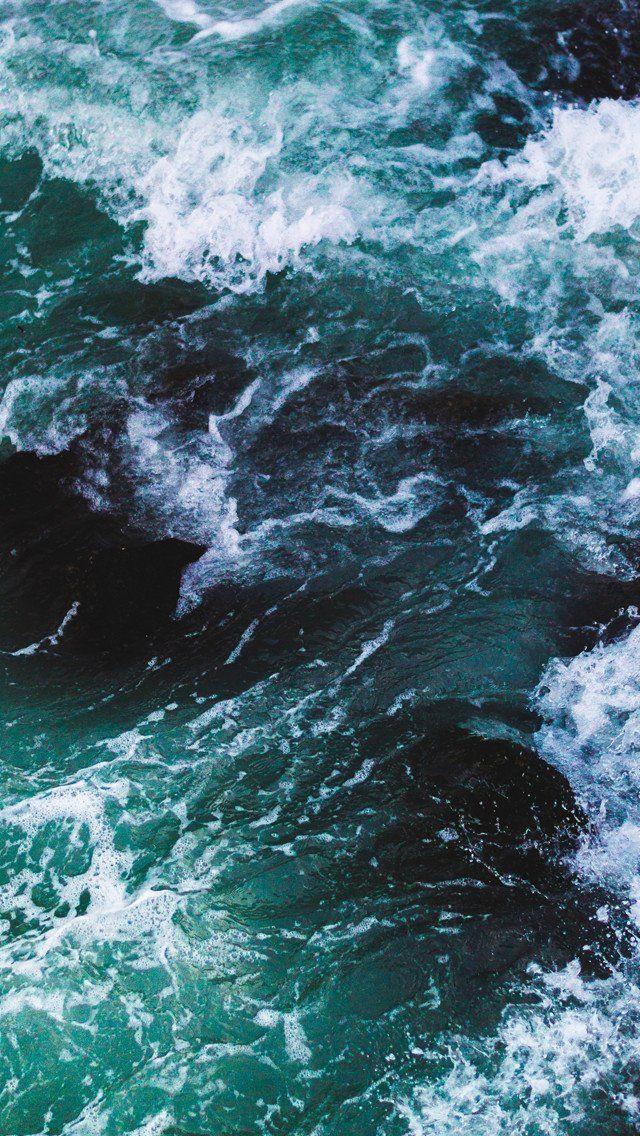 Crashing Waves IPhone Wallpaper 640x1136 Pixels