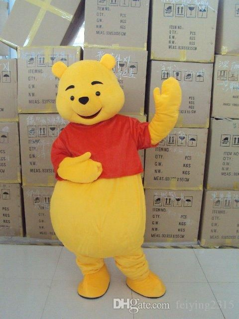 Mascot Costume Winnie The Pooh Cartoon Clothing Adult Size Bear+Costumes For Dogs Super Hero Costumes From Feiying2315, $130.66| Dhgate.Com