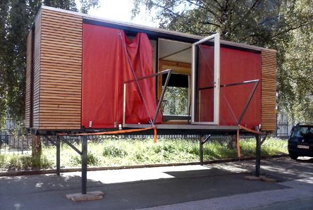 simplehome living in the wide open container studio office rh pinterest es