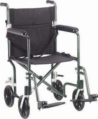 Black Lightweight Steel Transport Wheelchair 17 Inch Seat This Wheelchair Includes Footrests Medical Equipment Storage Transport Wheelchair Medical Equipment