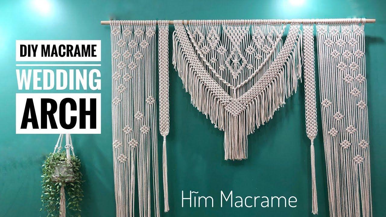 DIY Macrame Wedding Backdrop / Macrame Wedding Arch