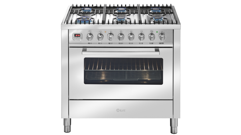 ILVE 90cm Freestanding Gas Oven - Stainless Steel - Appliances ...