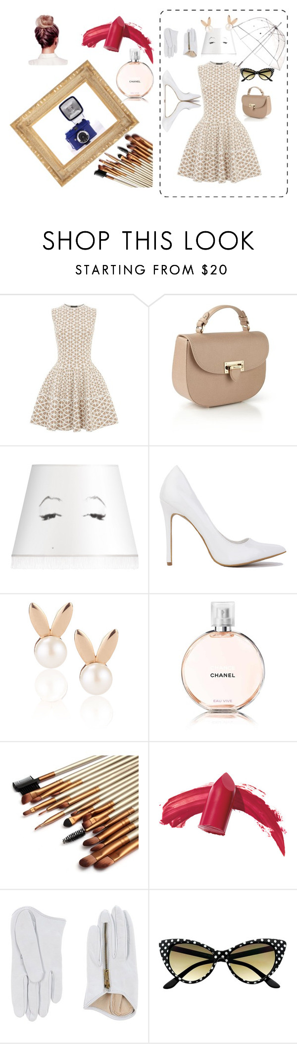 """""""retro style"""" by explorer-14041275712 on Polyvore featuring Alexander McQueen, Aspinal of London, Mineheart, Aamaya by priyanka, Chanel, Elizabeth Arden, Dsquared2 and Totes"""