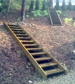 Best Outdoor Pressure Treated Staircase Enhance Your Landscape 400 x 300
