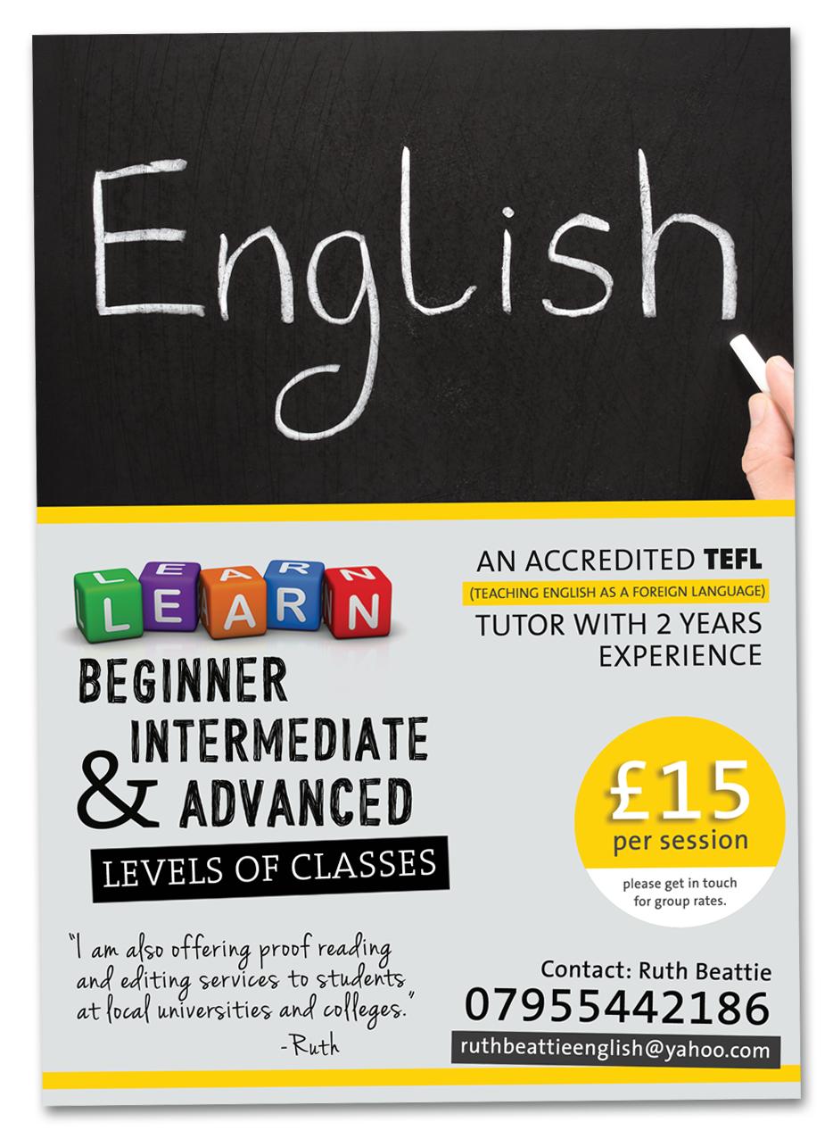 English Tutoring Flyer Templates