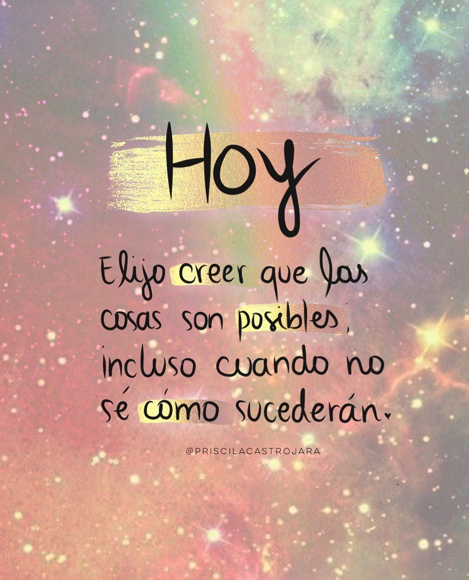 """Priscila Castro ® on Instagram: """". Buenos Días ☀️ ⠀ ✨¡Hoy y siempre decide creer! La vida te sostiene, solo te pide que confíes. Cuando hay un cambio de consciencia…"""""""