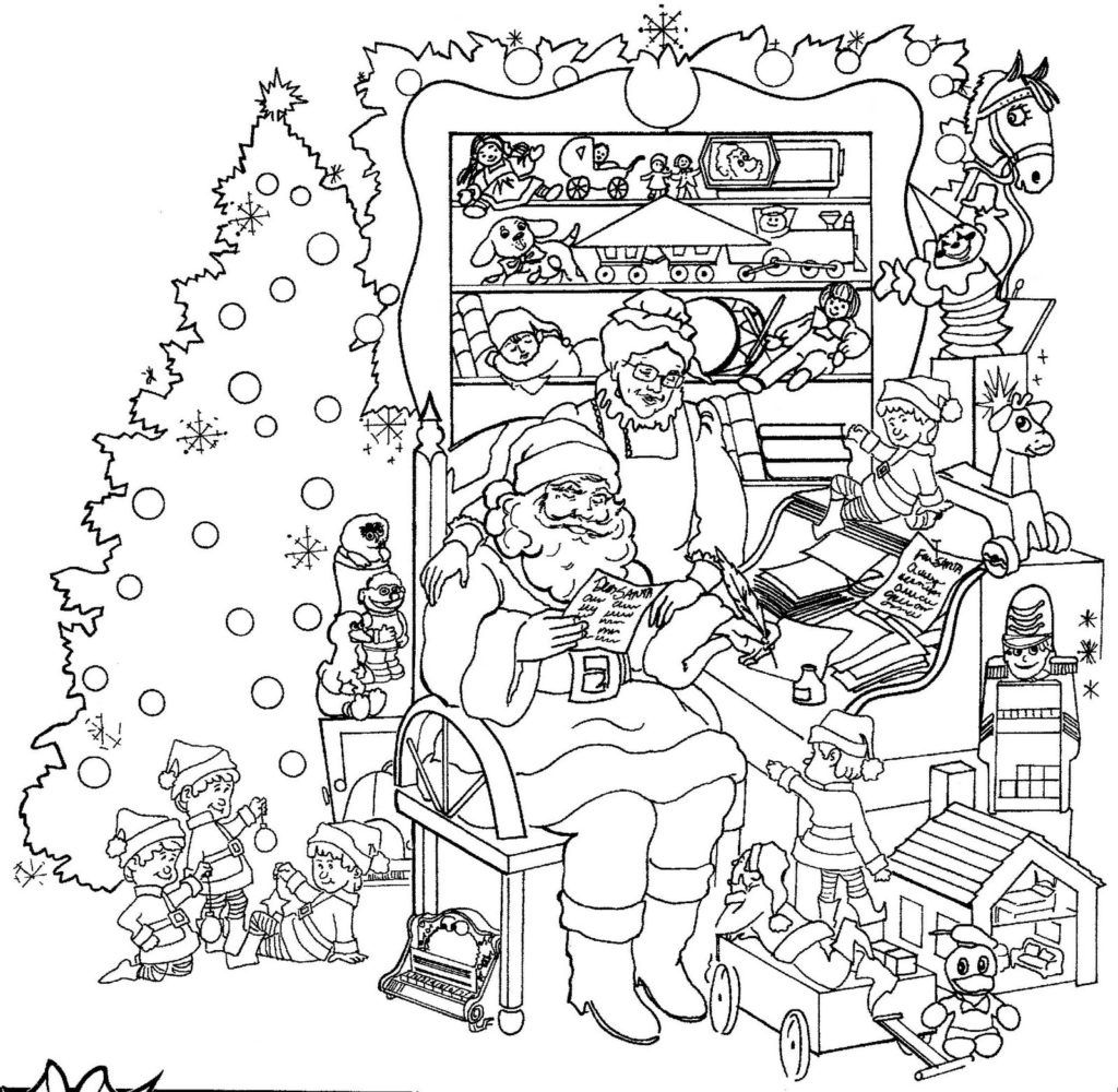 - Santa Coloring Pages Printable Christmas Coloring Pages