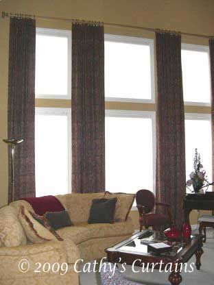 Two Story Curtains | 2008 Copyright - Cathy's Curtains. All rights reserved.